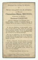 Doodsprentje  *  Bruneel Clementine (° Maldegem 1874 /  + Conterdam (Stene) 1946)  X Gadeyne Florimond - Religione & Esoterismo