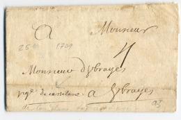 A3-lettre De 1709 De Castelane  Haute Garonne - Marcofilie (Brieven)
