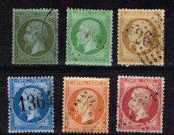 A3-N°19 à 24 La Série Complète Sans Défaut Cote 102 Euros. - 1862 Napoleon III