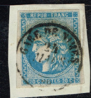 A4-N°46 Type I Oblit Cachet à Date Pas Courant Sur Type I Cote 250 Euros - Marcophily (detached Stamps)