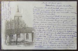 Vittel (Vosges) - Carte Postale Précurseur - Eglise - Circulée En 1902 Vers La Suisse (Montreux) - Vittel Contrexeville