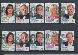(999 Stamps - 21-10-2018) Use Set Of Australian Stamps (10 Stamps) - 2018 (TV Stars) - 2010-... Elizabeth II