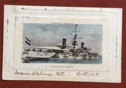 ACORAZADO SAN MARTIN  AMMIRAGLIA DELLA MARINA ARGENTINA FROM BUENOS AIRES   TO RAVENNA ITALY   12/10/1902 - Argentina