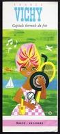 Dépliant Touristique Ancien VICHY ILLUSTRE Par LEFOR OPENO Femme Modèle Bardot Tennis Casino Hockey Illustrteur Signé - Dépliants Touristiques