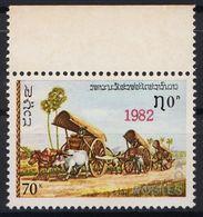 Laos 613 Overprint 1982 Red RAR! Postfrisch - Laos