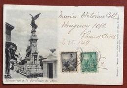 BUENOS AIRES MONUMENTO A LA REVOLUCIÓN DE 1890  FROM BUENOS AIRES   TO RAVENNA ITALY   12/7/1902 - Argentina