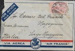 ANNULLO SERVICIO AEREO/MONTEVIDEO 06.01.1940 SU BUSTA VIA AEREA AIR FRANCE PER MAGOGNINO - Uruguay