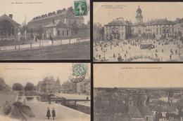 Lot De 4 CPA:Rennes:Vue, Hôtel Ville, Caserne, Canal - Rennes