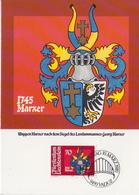 Liechtenstein Set On 4 Maximum Cards - Coat Of Arms