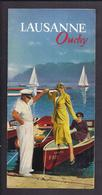 Dépliant Touristique Ancien SUISSE LAUSANNE OUCHY ILLUSTRE Lac Léman - Dépliants Touristiques