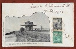 CORRIENTES  KIOSKO EN EL PASEO GENERAL MITRE    TO RAVENNA ITALY   12/7/1902 - Argentina