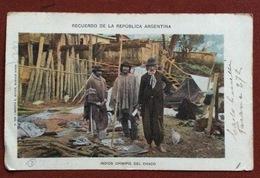 RECUERDO DE LA REPUBBLICA ARGENTINA INDIOS CHINIPIS DEL CHACO FROM BUENOS AIRES   TO RAVENNA ITALY  16/12/1901 - Argentina