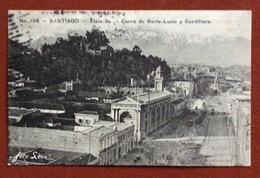 """SANTIAGO ALAM DA CERRO DE SANTA-LUCIA Y CORDILLERA  """"VIA ANDES"""" TO FORLI' ITALY 17/9/1912 Vedi Nota - Cile"""