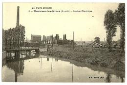 MONTCEAU Les MINES Au Pays Minier Station Electrique B.F. 8 - Montceau Les Mines