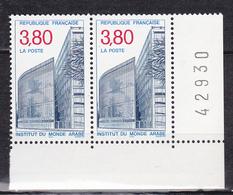 N° 2645 L'Institut Du Monde Arabe :Une Paire De 2 Timbres Neuf Impeccable - France