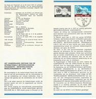 België   O.B.C.   Postfolder  Nr. 2  -  1973   1661    100 Jaar Meteorologie   Brussel-Bruxelles - Documents De La Poste