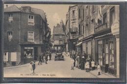 Carte Postale 50. Coutances Rue Du Lycée  Très Beau Plan - Coutances