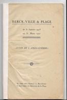 BERCK-sur-Mer - Suite De L'après Guerre -( 1923-1927) Par Léonie DUPLAIS - édition Originale - Picardie - Nord-Pas-de-Calais