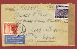Luftpostbrief  27/1/1948 Nach Belgien 1.60 Sch 2 Scan - 1945-60 Briefe U. Dokumente