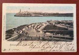 CUBA HAVANA EL MALECON Y CASTILLO  DEL MORRO  FROM HAVANA CUBA 11/12/1902 TO  RAVENNA ITALY - Cartoline