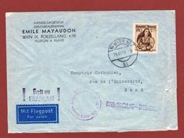 Luftpostbrief  23/12/1948 Nach Belgien 1.40 Sch; - 1945-60 Briefe U. Dokumente