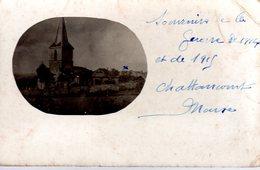 CHATTANCOURT  -  Carte Photo  -  L' Eglise  -  Souvenir De La Guerre 1914 Et 1915 - Otros Municipios