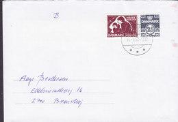 Denmark Brotype IId LANGESKOV 1992 Cover Brief Brønshøj Mødrehjælpen Mother's Aid Stamp - Dänemark