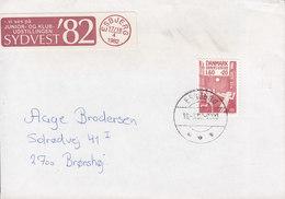 Denmark Brotype IId ESBJERG 1992 Cover Brief Brønshøj Children's Office Stamp SYDVEST '82 Stamp Exhibition Vignette - Briefe U. Dokumente