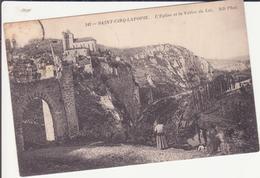 CPA - 141. SAITN CIRQ LAPOPIE - L'église Et La Vallée Du Lot - Saint-Cirq-Lapopie