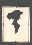 Fantasiekaart Formaat 9 X 11,9 Cm - Silhouet Van Een Vrouw / Silhouette D'une Femme - Women