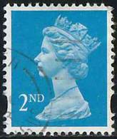 GB 1993 Yv. N°1671 - 2nd Bleu Offset (W) - Oblitéré - Machin-Ausgaben