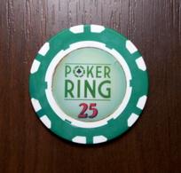 POKER RING CASINO 25 CHIP TOKEN FISH FICHES CHIPS JETON - Casino