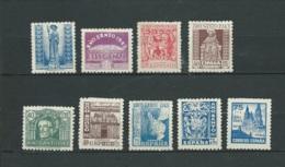 Espagne  Yvert Séris  N° 718 à 726  , 9 Valeurs   *  Ava26206 - 1931-Heute: 2. Rep. - ... Juan Carlos I