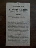 Apostoliek  Werk  H.  Joannes - Berchmans   Te ST- TRUIDEN - Faire-part