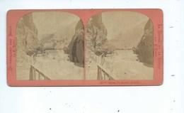 Suisse Valais Martigny - Entrée Gorges Du TRIENT à Vernayaz - Photo Stéréoscopique Vers 1870 - - Stereoscopic