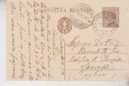 Storia Postale Ambulante Aosta Torino Per Cagliari 1930 - Interi Postali