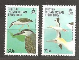 BIOT  1990 BIRDS PAIR MNH - British Indian Ocean Territory (BIOT)