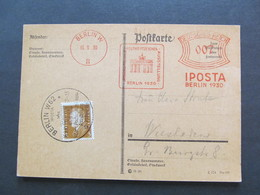 DR Nr. 410, 1930, Postkarte, IPOSTA, Berlin *DEL2029* - Briefe U. Dokumente