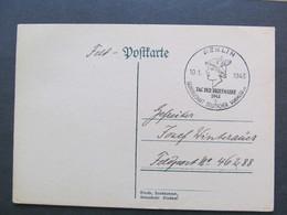 DR-Ganzsache Privat, 1943, Postkarte, Tag Der Briefmarke, Berlin *DEL2030* - Briefe U. Dokumente