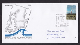 Netherlands: Cover, 1996, 1 Stamp, Special Cancel, Lighthouse, Exhibition North Sea (traces Of Use) - Period 1980-... (Beatrix)