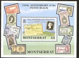 Montserrat 1990 Yvertn°  Bloc 54 *** MNH Cote 12 Euro Création Premier Timbre-poste - Montserrat