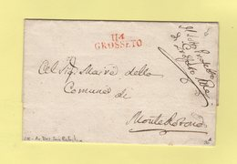 Grosseto - 114 - Franchise Du Sous Prefet - Sans Correspondance - Departement Conquis De L'Ombrone - 1. ...-1850 Vorphilatelie