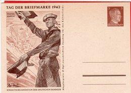 Ganzsache Tag Der Briefmarke 1942 Kriegsmarine Blanko - Germania