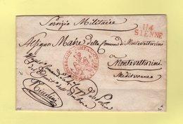 Sienne - 114 - Franchise Du Commandant De Police - Sans Correspondance - Departement Conquis De L'Ombrone - 1. ...-1850 Prefilatelia