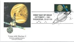 B2496 USA FDC Space Satellite Mariner-2 - United States