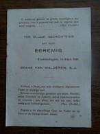 Santje  EEREMIS   Désiré Van MALDEREN    1930   Erembodegem - Faire-part