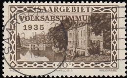 SAAR - Scott #144 Scene From Saarlouis Fortifications / Used - 1920-35 League Of Nations