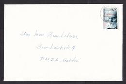 Netherlands: Cover, 1993, 1 Stamp, Nobel Prize Winner Van Der Waals, Physics, Science, Formula (traces Of Use) - Period 1980-... (Beatrix)
