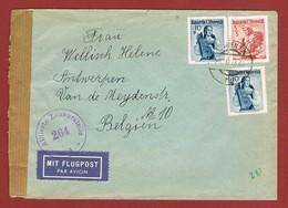Luftpostbrief 20/2/1953 Nach Belgien 3.20 Sch - 1945-60 Briefe U. Dokumente