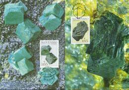 Slowakei 'Mineralien Libethenit U. Euchroit' / Slovakia 'Minerals Libethenite & Euchroite' MK/MC 2018 - Mineralien
